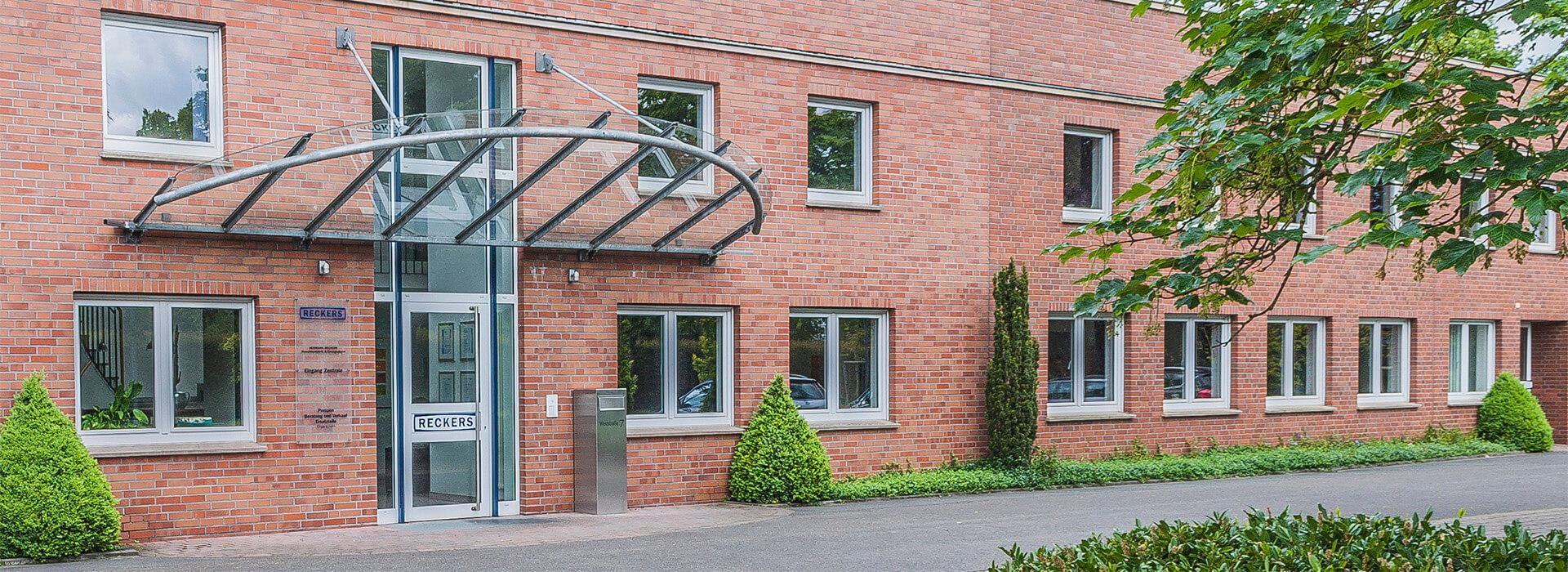 Das Firmengebäude der Maschinenfabrik in Hörstel